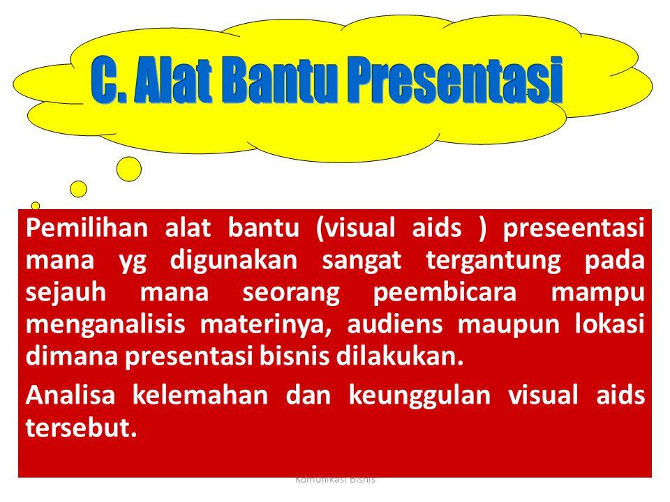 C. Alat Bantu Presentasi