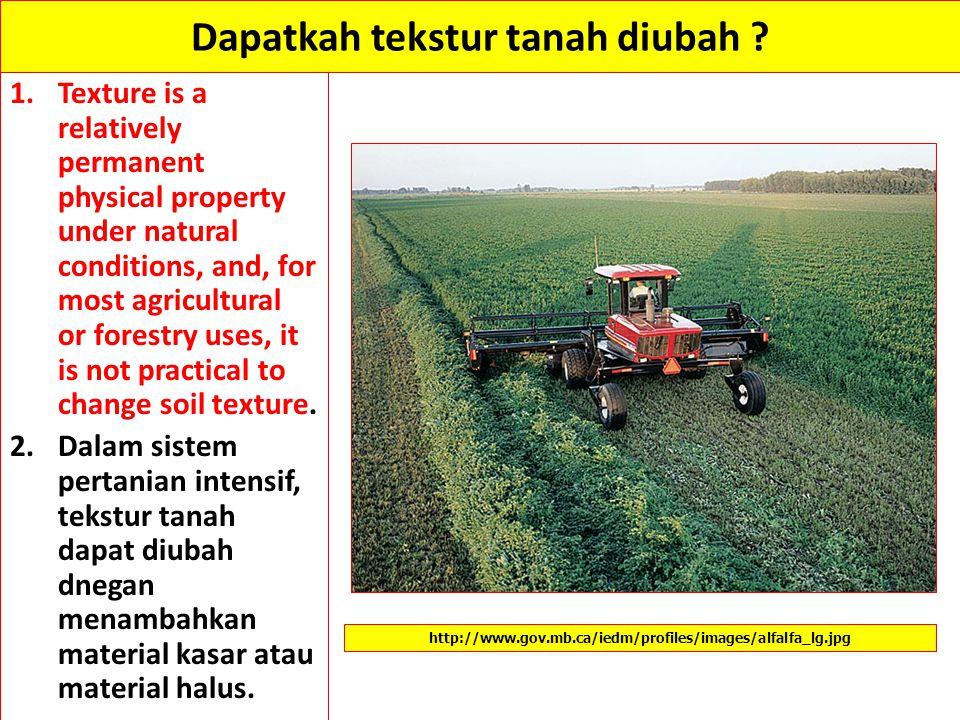 Dapatkah tekstur tanah diubah
