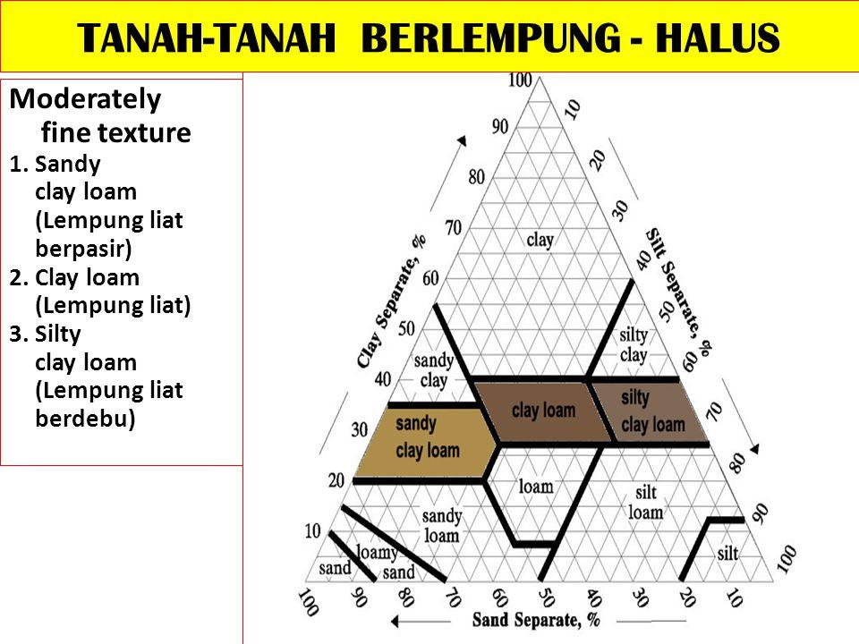 TANAH-TANAH BERLEMPUNG - HALUS