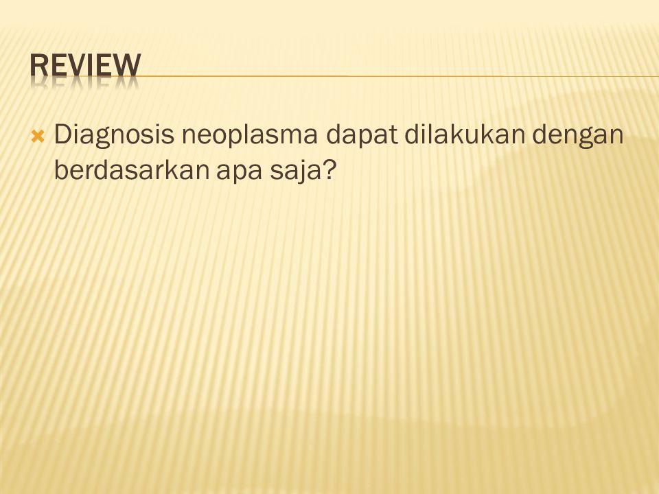 Review Diagnosis neoplasma dapat dilakukan dengan berdasarkan apa saja