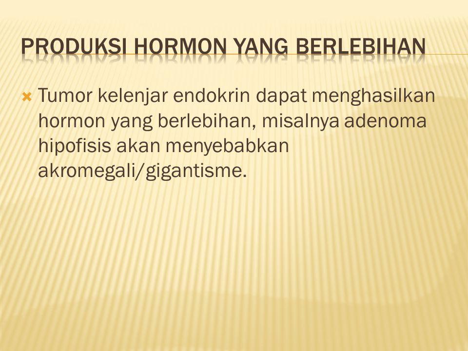 Produksi hormon yang berlebihan