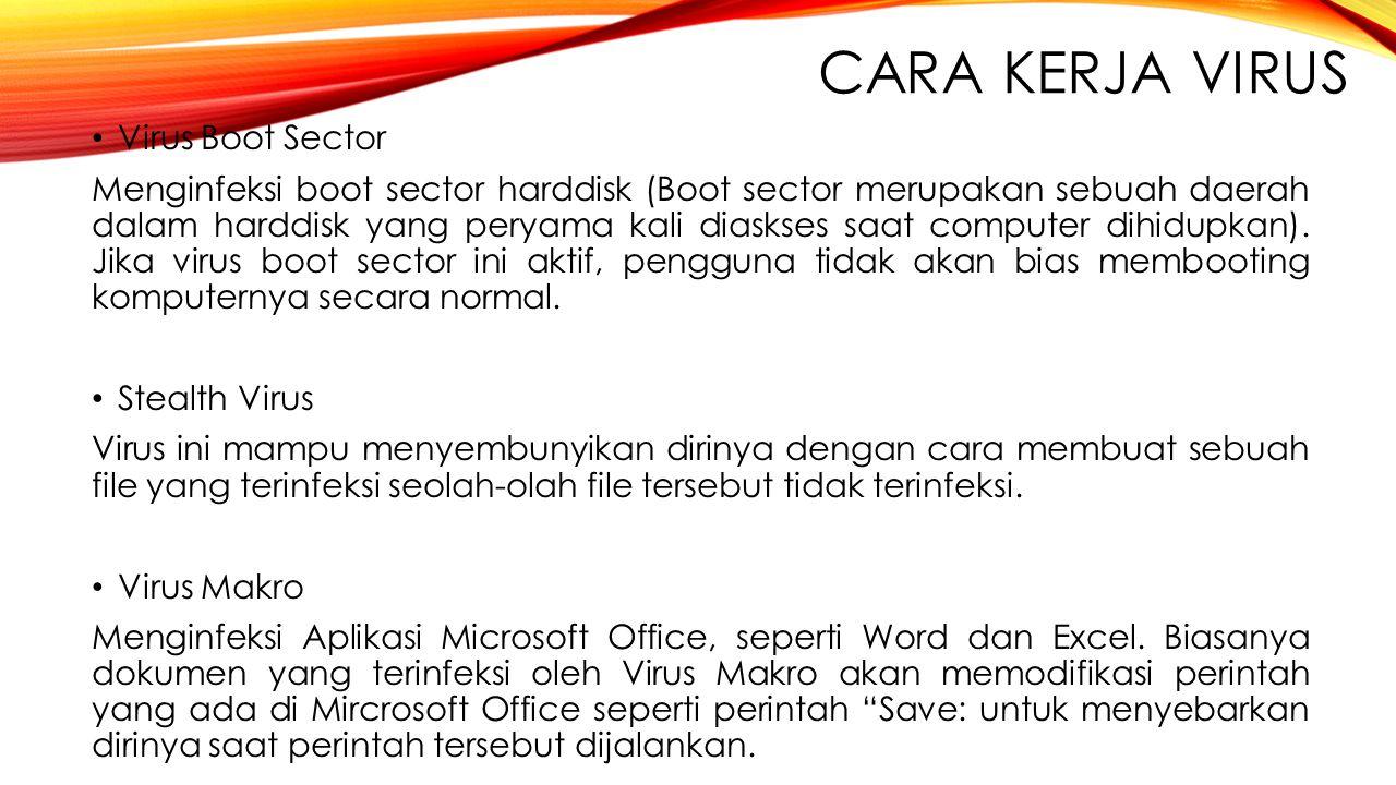 Cara Kerja Virus Virus Boot Sector