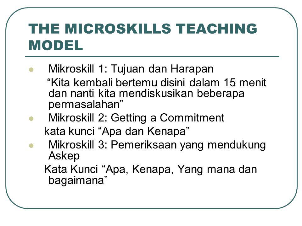 THE MICROSKILLS TEACHING MODEL