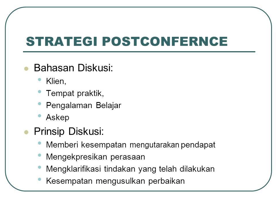 STRATEGI POSTCONFERNCE