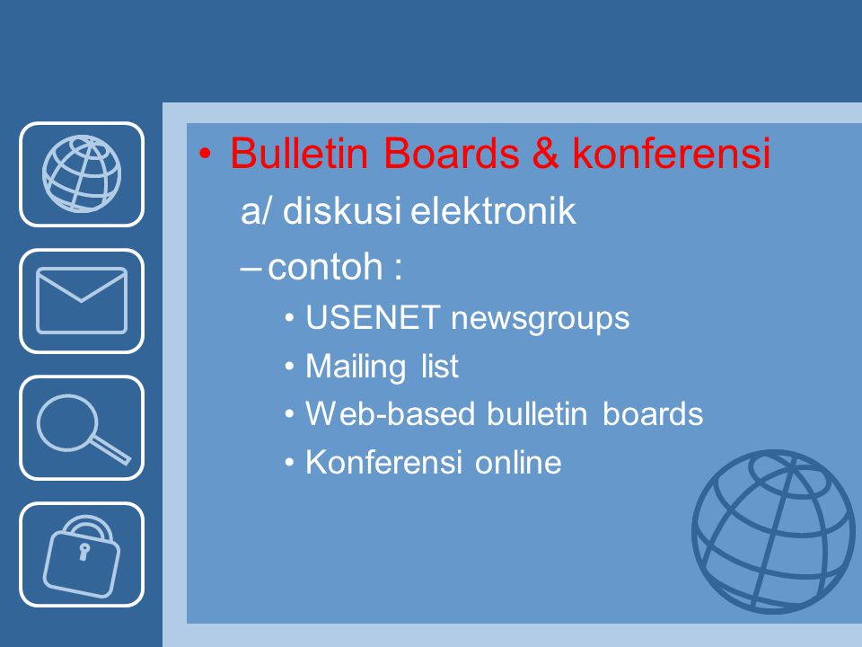 Bulletin Boards & konferensi