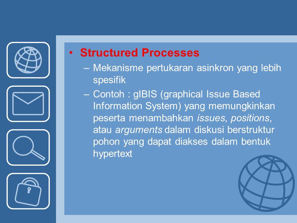 Structured Processes Mekanisme pertukaran asinkron yang lebih spesifik