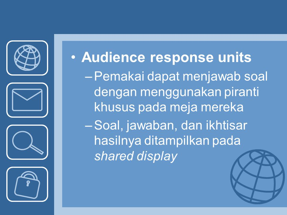 Audience response units