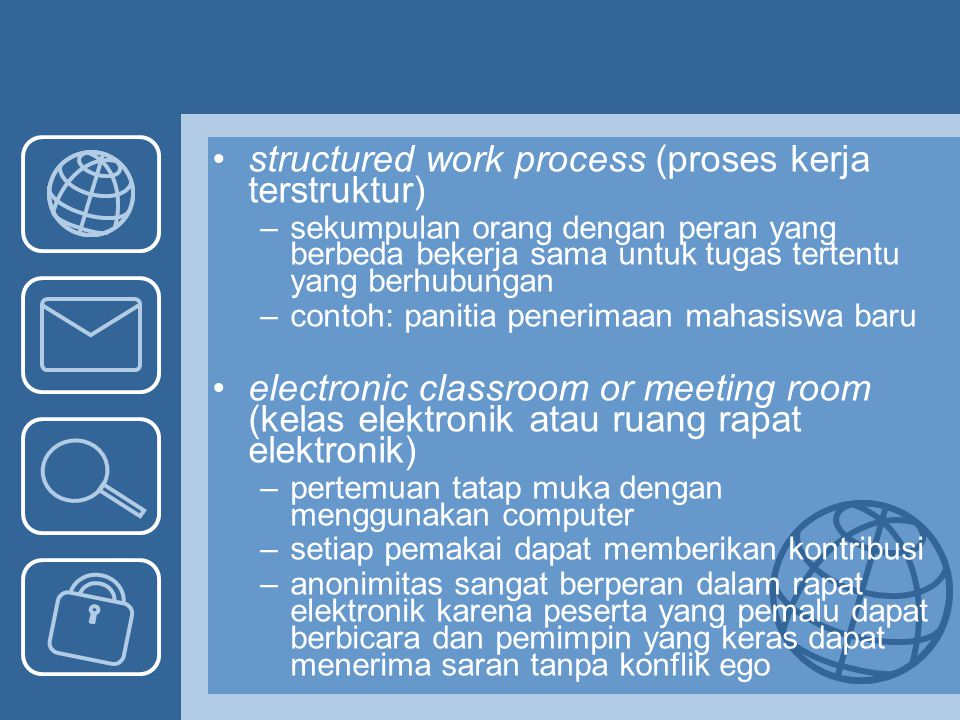 structured work process (proses kerja terstruktur)