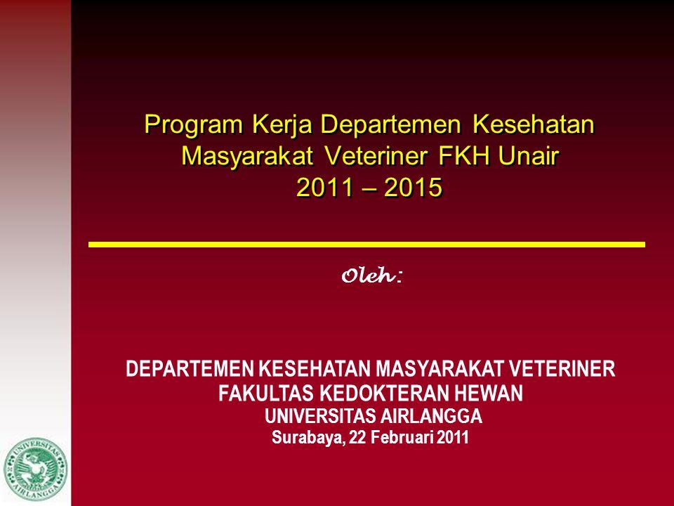 Program Kerja Departemen Kesehatan Masyarakat Veteriner FKH Unair 2011 – 2015