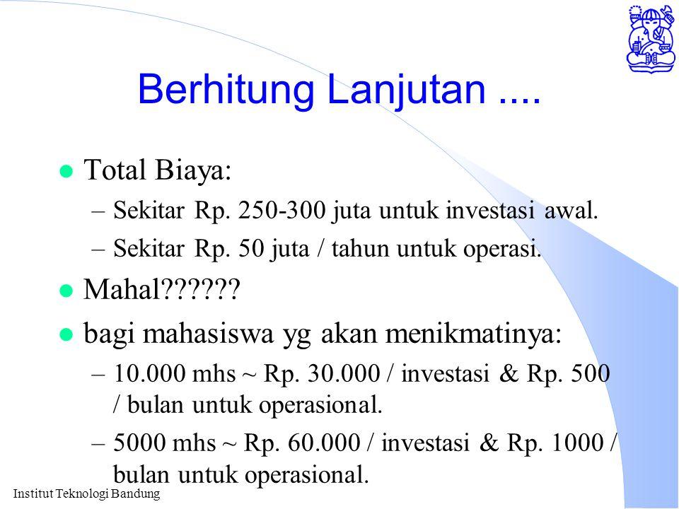 Berhitung Lanjutan .... Total Biaya: Mahal