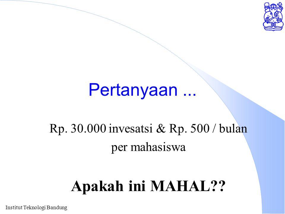 Rp. 30.000 invesatsi & Rp. 500 / bulan