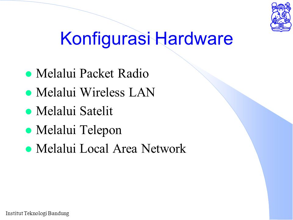 Konfigurasi Hardware Melalui Packet Radio Melalui Wireless LAN