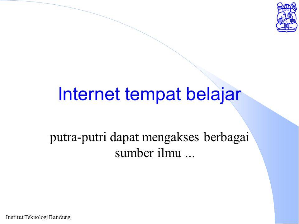 Internet tempat belajar