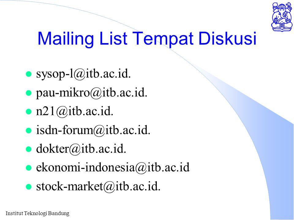 Mailing List Tempat Diskusi