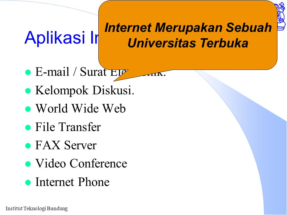 Aplikasi Internet Di Pendidikan