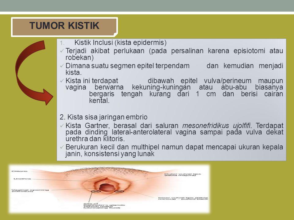 TUMOR KISTIK Kistik Inclusi (kista epidermis)