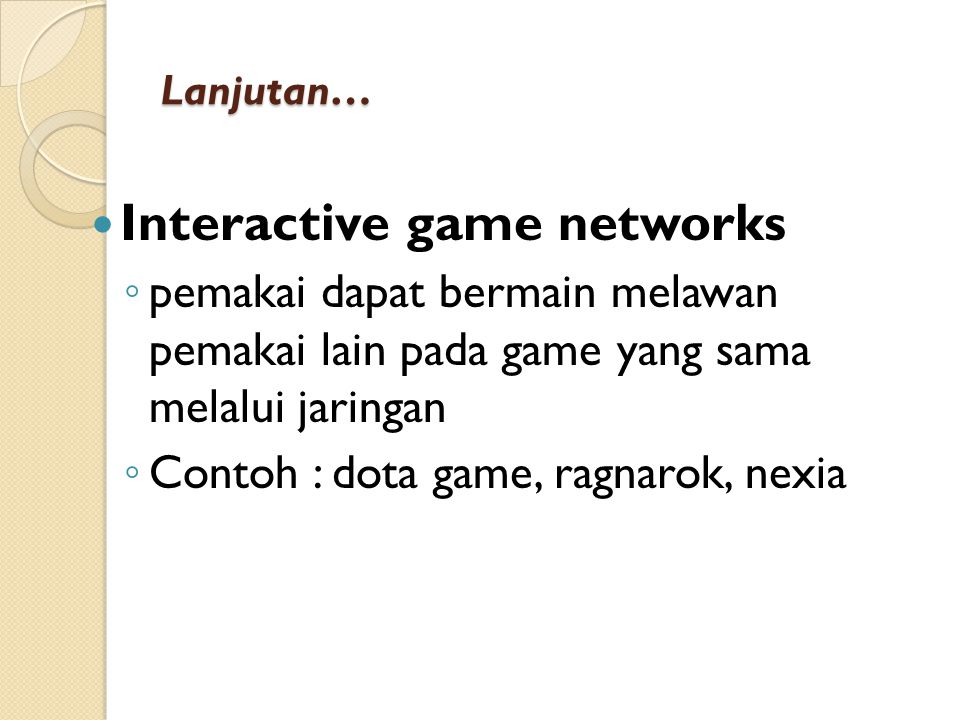Interactive game networks