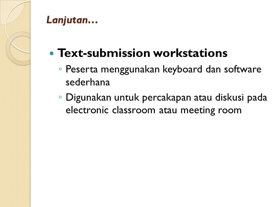 Text-submission workstations