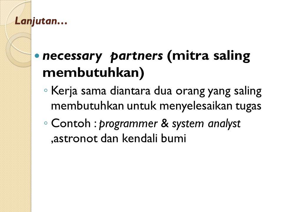 necessary partners (mitra saling membutuhkan)