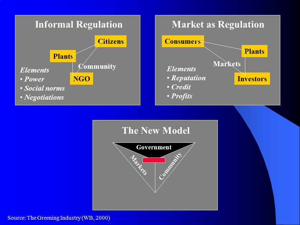 Informal Regulation Market as Regulation The New Model Citizens