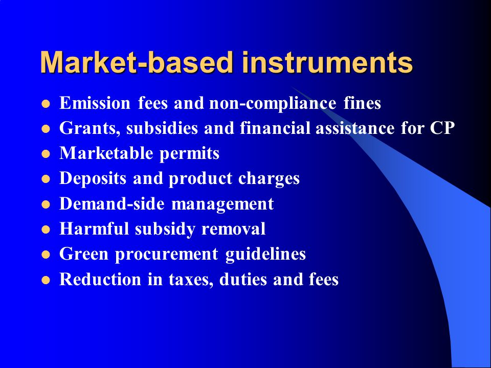 Market-based instruments
