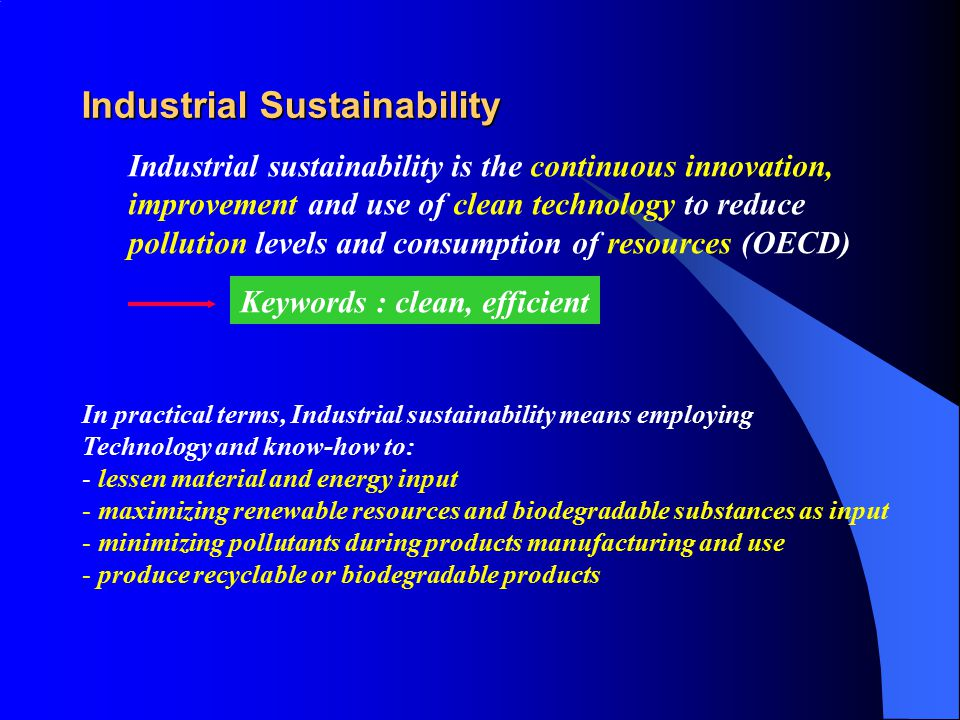 Industrial Sustainability