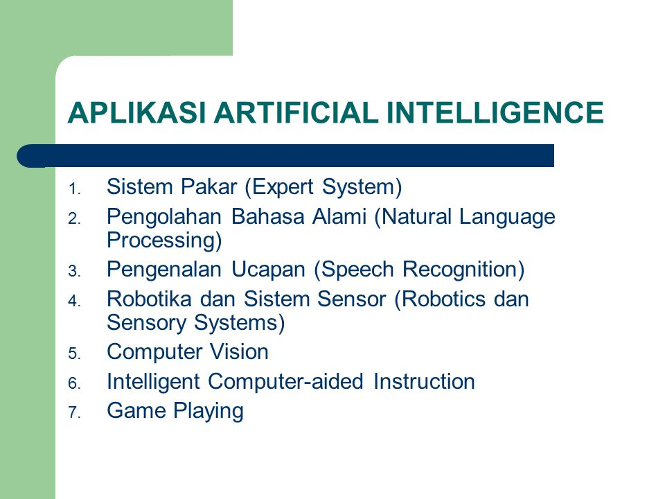 APLIKASI ARTIFICIAL INTELLIGENCE