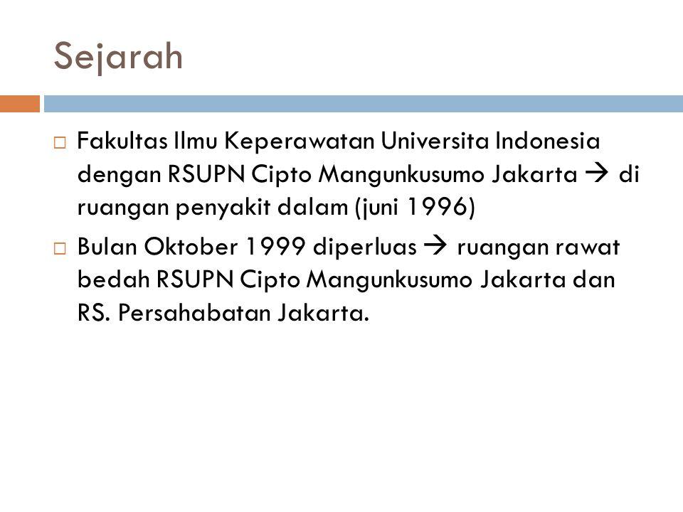 Sejarah Fakultas Ilmu Keperawatan Universita Indonesia dengan RSUPN Cipto Mangunkusumo Jakarta  di ruangan penyakit dalam (juni 1996)