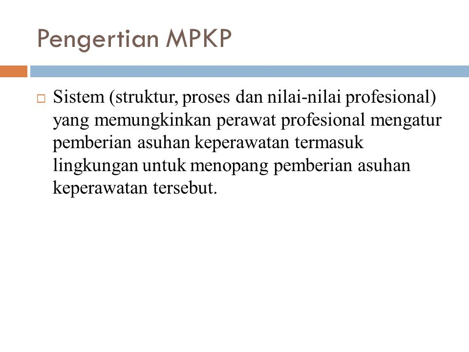 Pengertian MPKP