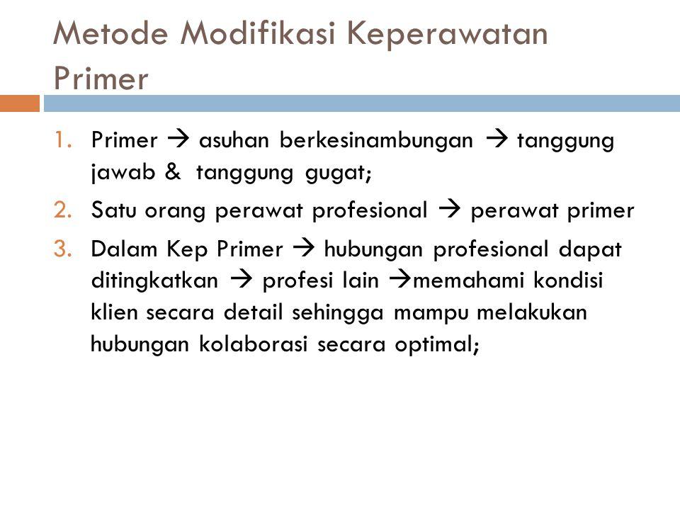 Metode Modifikasi Keperawatan Primer