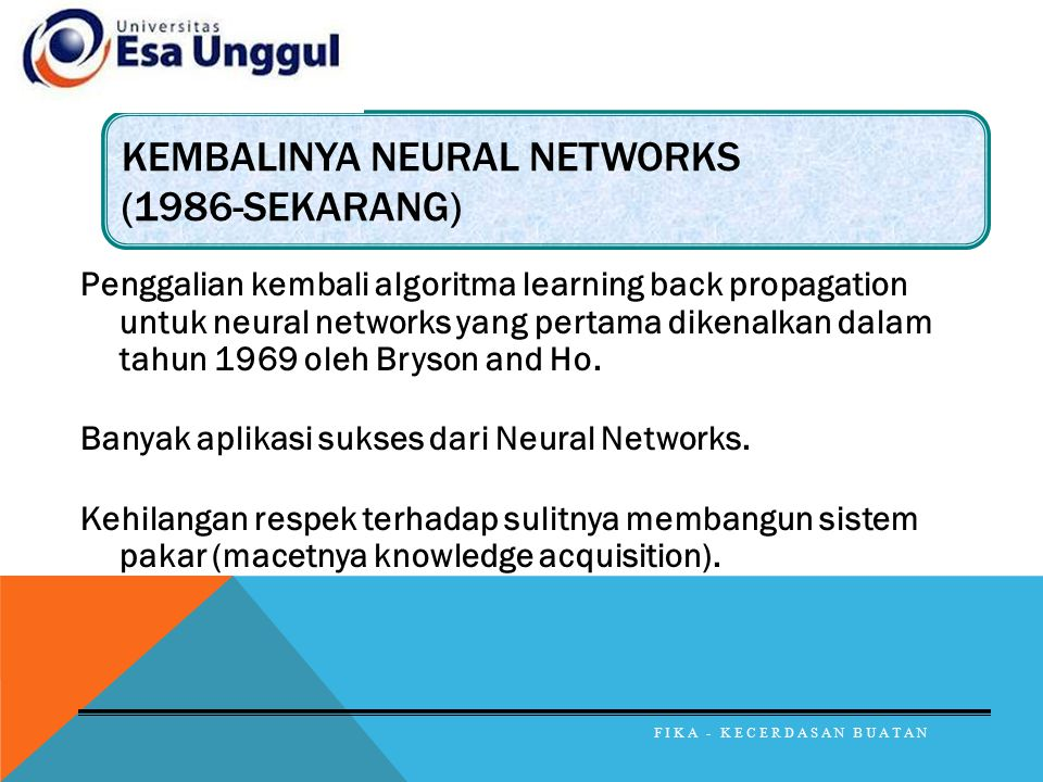 Kembalinya neural networks (1986-sekarang)