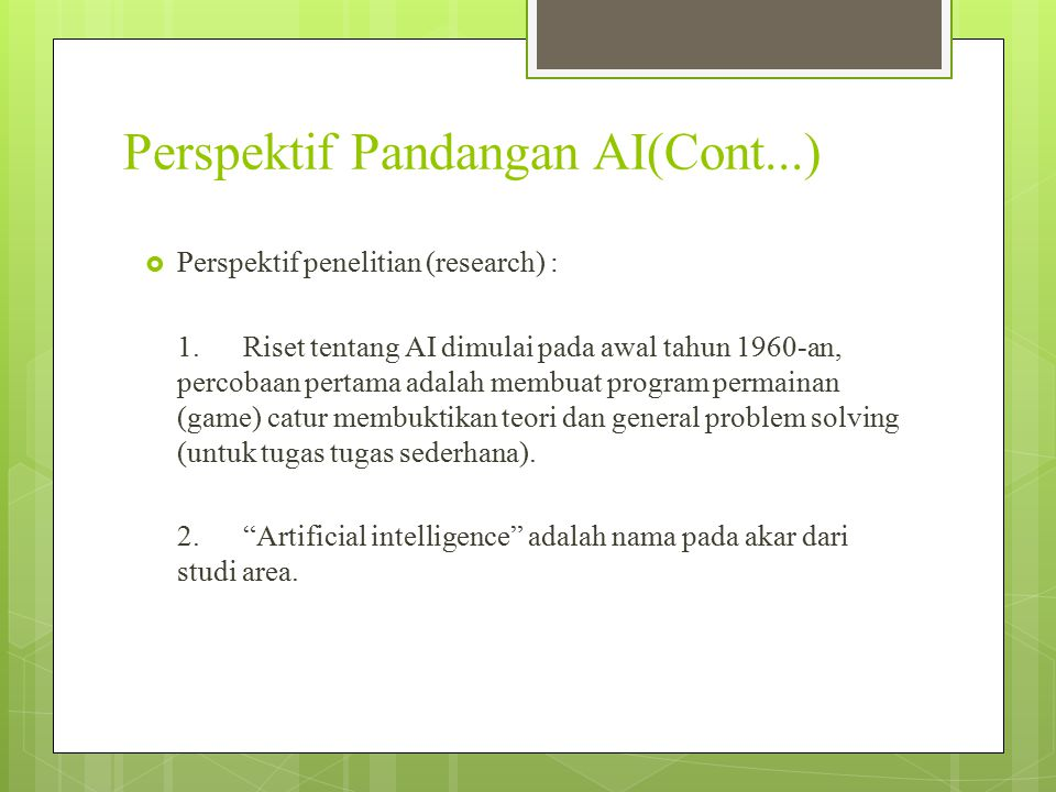 Perspektif Pandangan AI(Cont...)