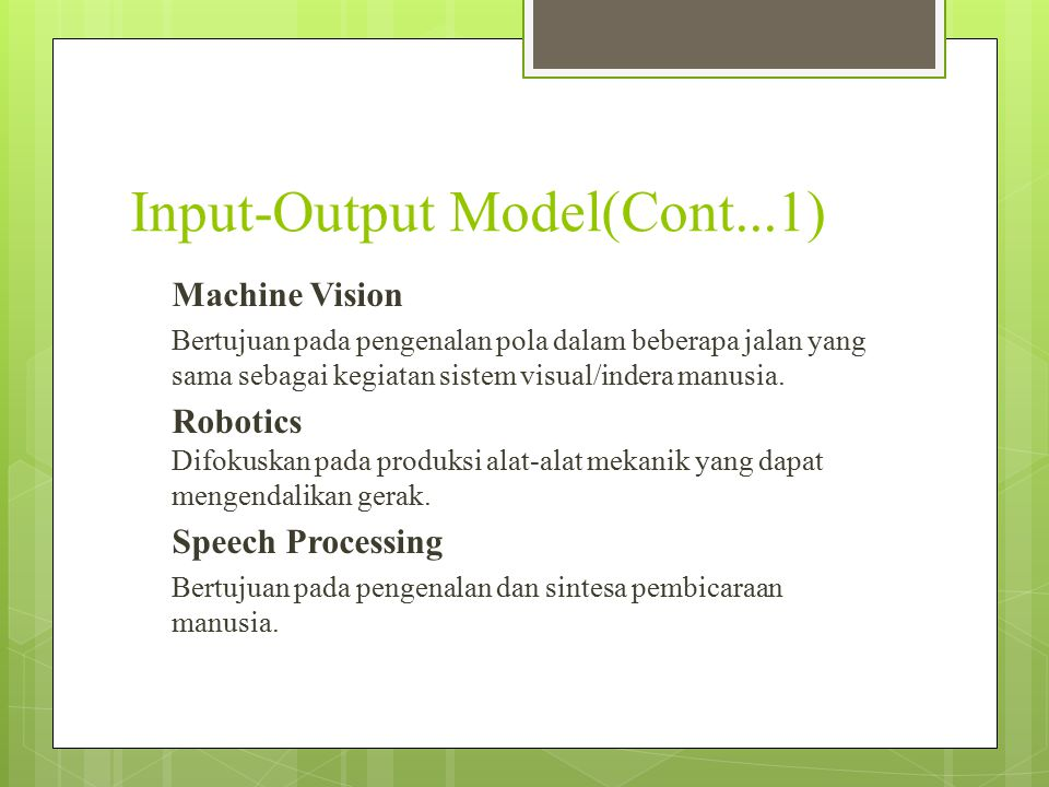 Input-Output Model(Cont...1)