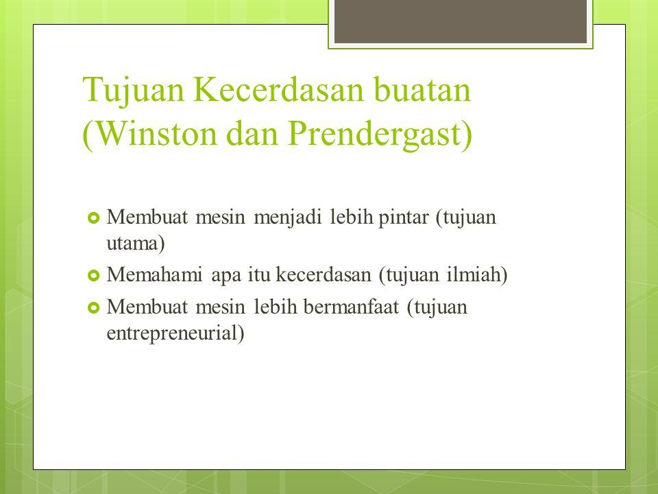 Tujuan Kecerdasan buatan (Winston dan Prendergast)