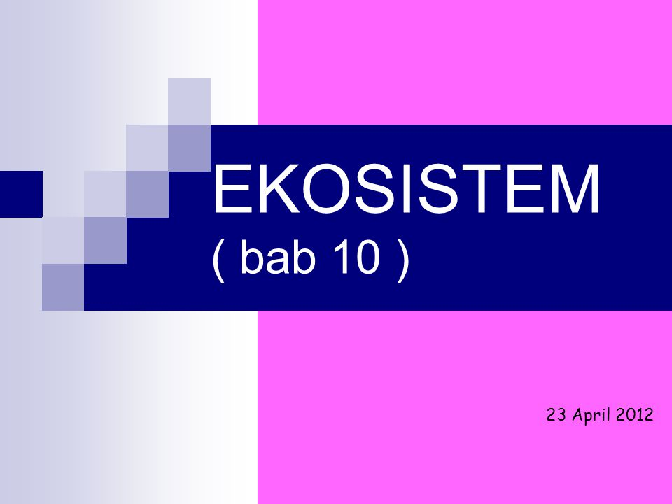 EKOSISTEM ( bab 10 ) 23 April 2012