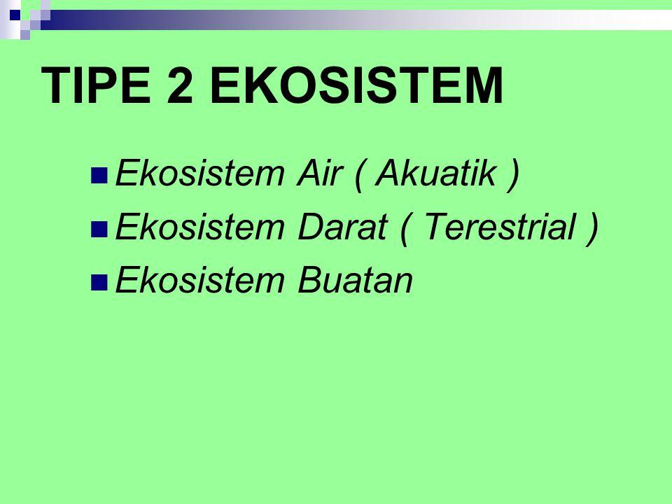 TIPE 2 EKOSISTEM Ekosistem Air ( Akuatik )
