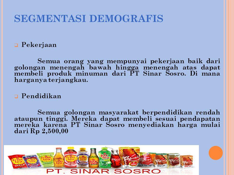 SEGMENTASI DEMOGRAFIS