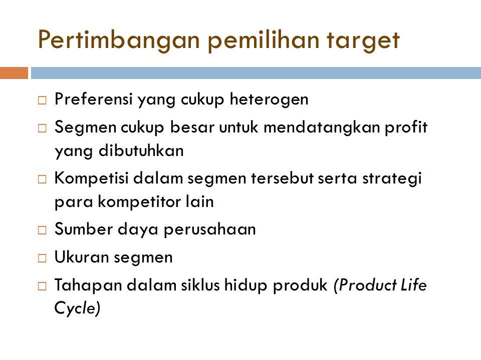 Pertimbangan pemilihan target