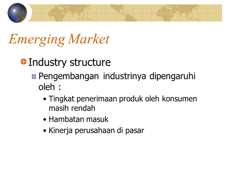 Emerging Market Industry structure