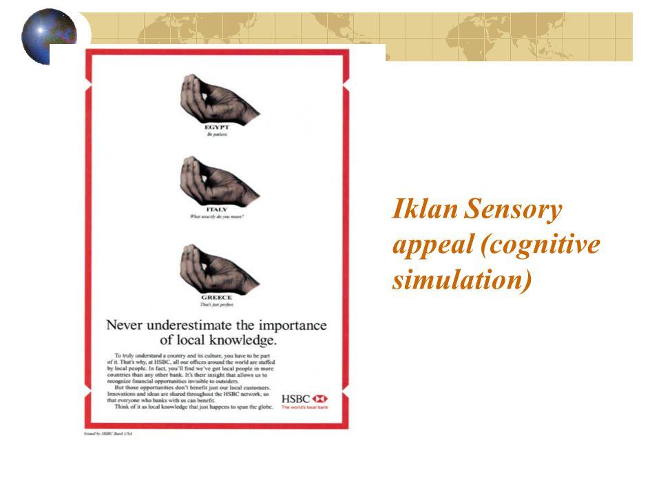 Iklan Sensory appeal (cognitive simulation)