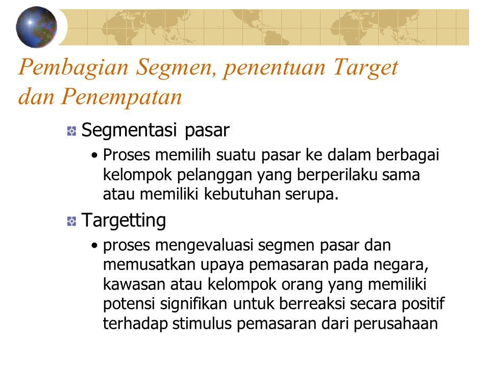 Pembagian Segmen, penentuan Target dan Penempatan
