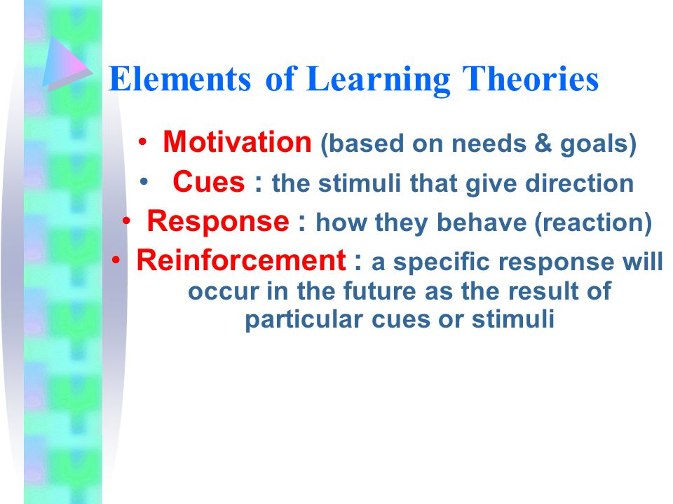 Elements of Learning Theories