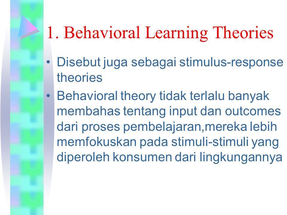 1. Behavioral Learning Theories