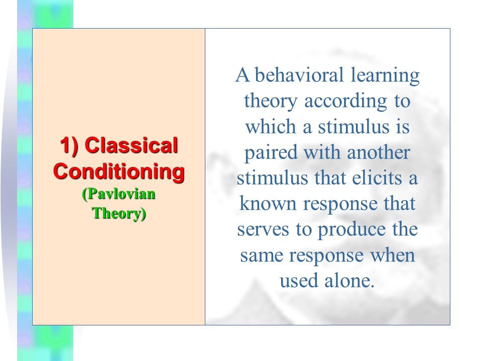 1) Classical Conditioning