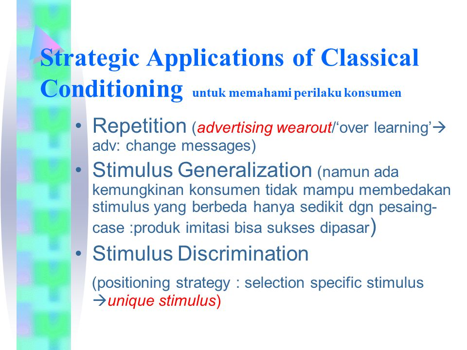 Strategic Applications of Classical Conditioning untuk memahami perilaku konsumen