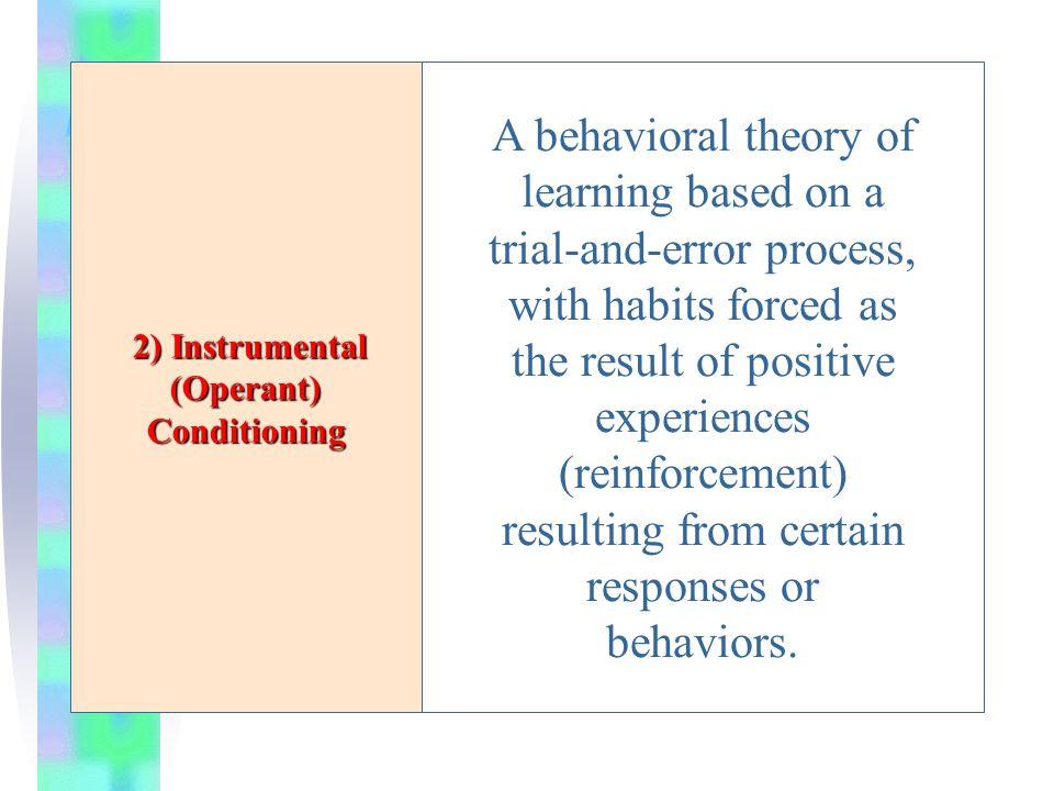 2) Instrumental (Operant) Conditioning