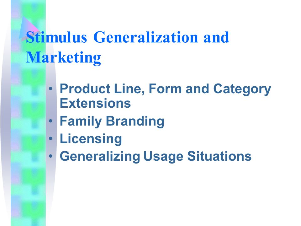 Stimulus Generalization and Marketing