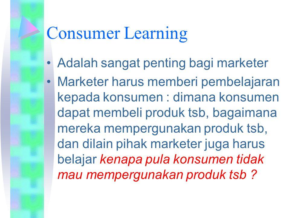 Consumer Learning Adalah sangat penting bagi marketer