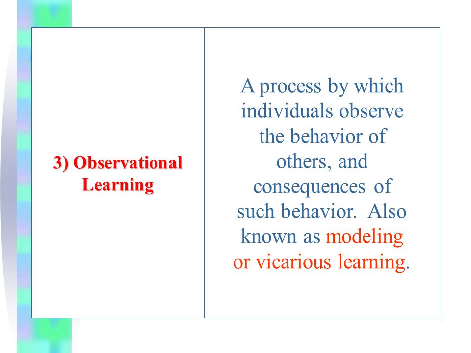 3) Observational Learning