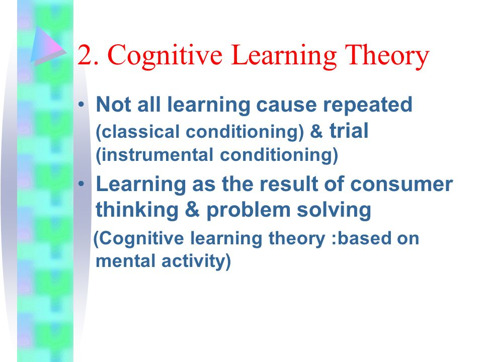 2. Cognitive Learning Theory